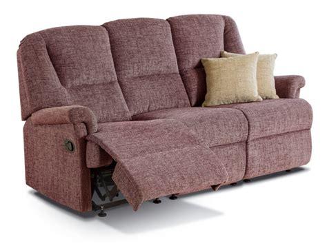 reclining settees milburn small fabric reclining 3 seater settee sherborne