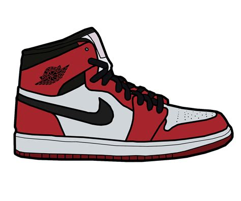 Nike Fullcolor White air 1 drawing at getdrawings free for