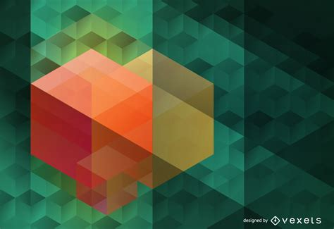 polygonal hexagon background vector