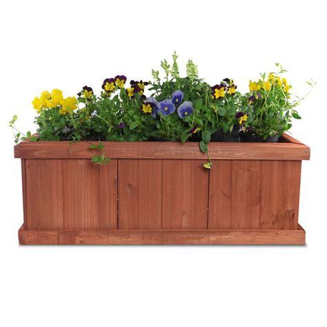 pennington      wood window planter box