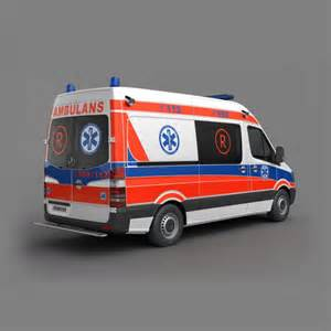 Ambulance car 3d model cgtrader com