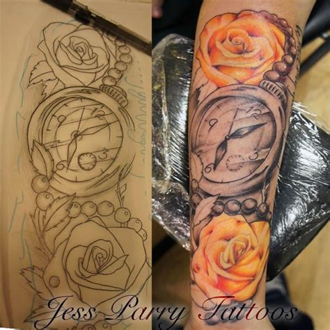 Tattoo Arm Piece Designs | from design to tattoo lower arm piece copyright jess