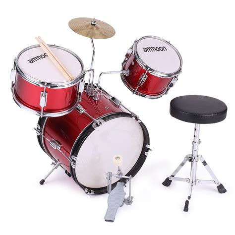 kid drum set ammoon 3 children junior drum set drums kit
