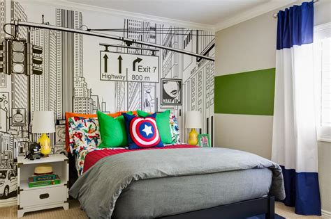 superhero themed bedroom this superhero themed kid s room will knock your socks off