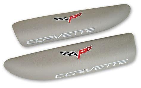 Promo Karpet Comfort Premium Grand Fortuner 2004 2015 3 Baris c6 corvette logo leather armrest pads titanium gray rpidesigns
