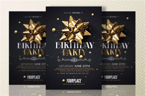 party invitation template psd for birthday christmas bbq