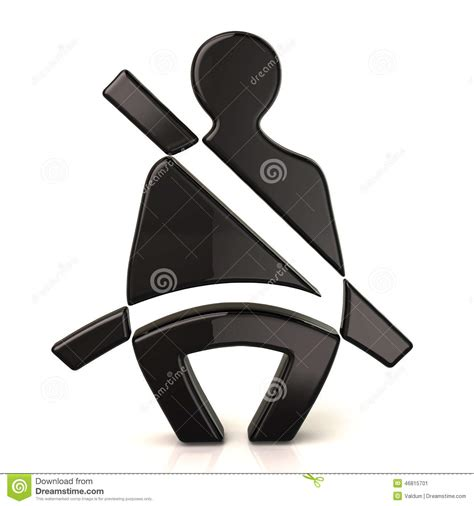 how to use seat belt use your seat belt sign stock illustration image 46815701