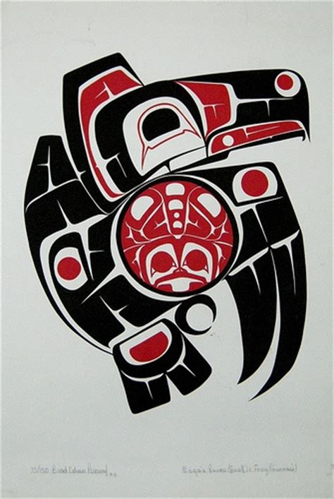 pacific northwest design haida native american bird tattoo
