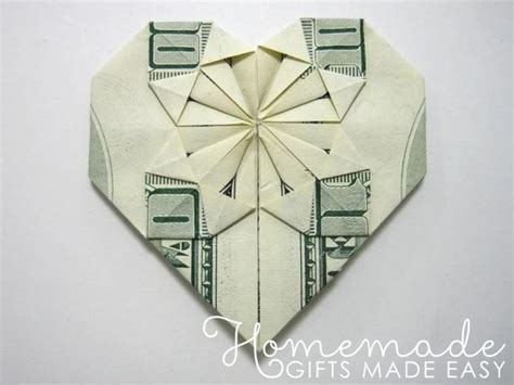 Decorative Money Origami Heart: Video Tutorial and Picture