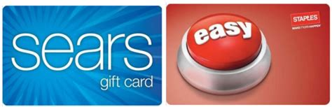 Can You Use A Sears Gift Card At Kmart - 100 sears gift card only 85 and 200 staples egift card only 170 hip2save