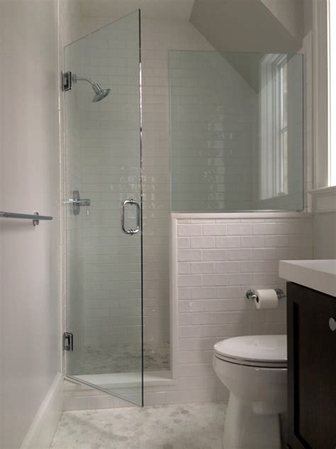 half glass shower doors glass shower door half wall master bathroom shower half