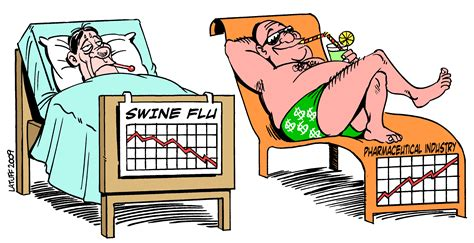 swing flu teaching about health cartoons about swine flu esl