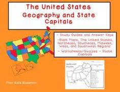 teach the location of all fifty states using these blank
