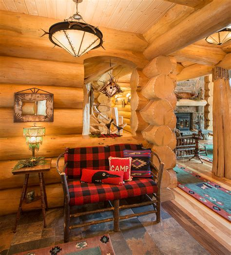 Diy Cabin Decor by Diy Log Cabin Decor Living Room Rustic With Armchair