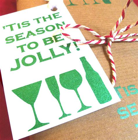 handmade christmas drinks gift tags by indigoelephant
