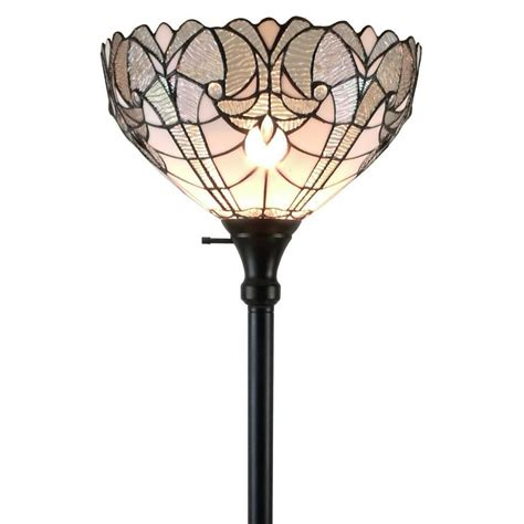 amora lighting tiffany l amora lighting 72 in white floor l am266fl14 the