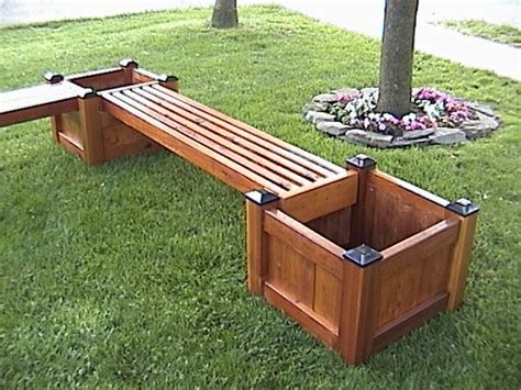 wood planter bench 25 best ideas about planter bench on pinterest garden