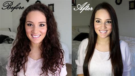 Dryer To Straighten Curly Hair how to straighten curly hair maintain it