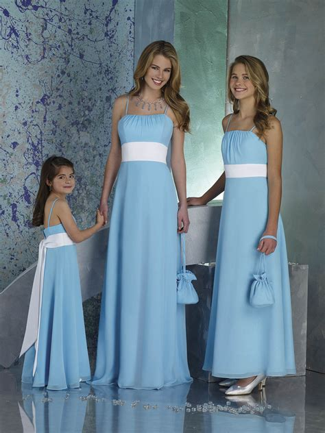 light blue and white dress light blue bridesmaid dresses with white and spaghetti