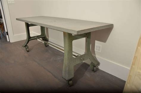 bluestone table tops industrial table base with bluestone top at 1stdibs