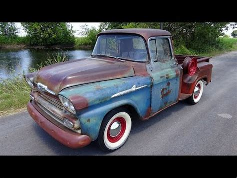 1959 chevy apache classic pickup truck youtube