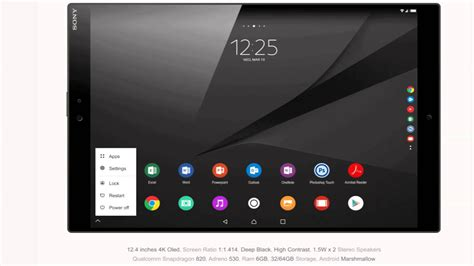Tablet Sony Ultra Sony Xperia Z5 Tablet Ultra Concept