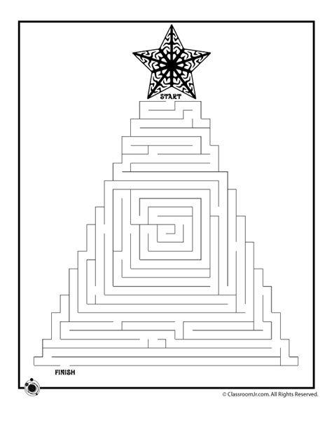 printable maze for 3 years old printable christmas mazes woo jr kids activities