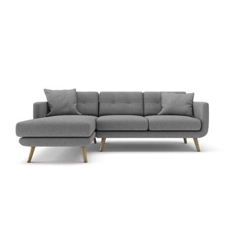 Left Chaise Sectional Sofa Wagner Sectional Sofa Gray Left Chaise Urbn Touch Of Modern