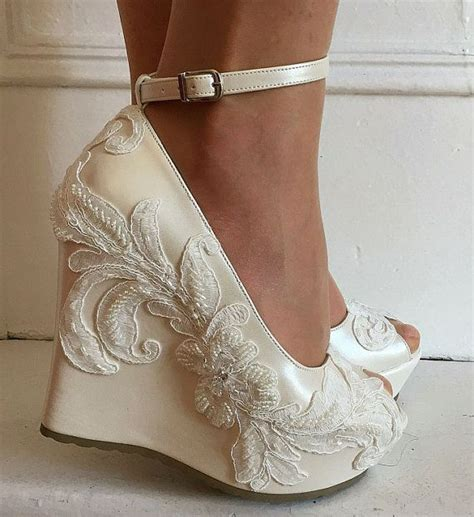 Ivory Wedge Wedding Shoes by Ivory Wedding Wedges Www Pixshark Images Galleries