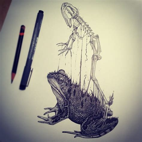 tattoo ink animal bones animals leave their skeletons behind in stunning dark