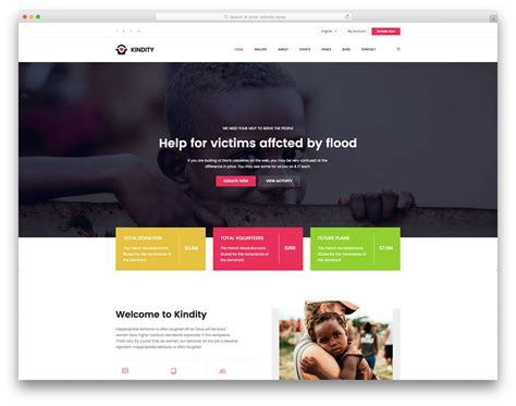 Charity 2 Free Charity Website Template Colorlib Colorlib Free Templates