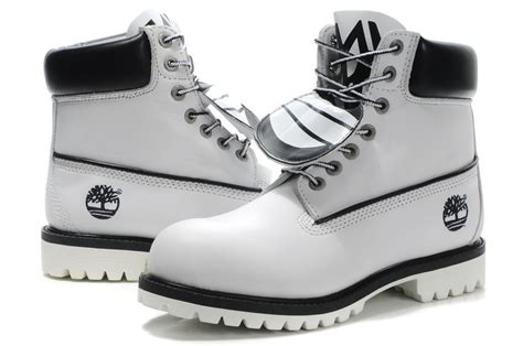 mens black and white timberland boots discount mens timberland high top boots white black outlet