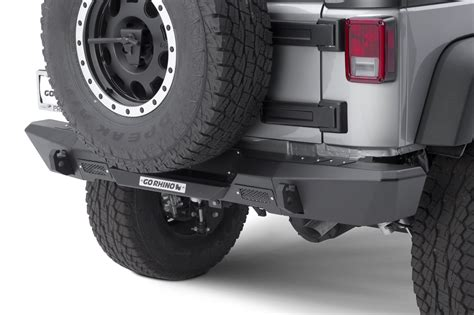 Jeep Bumper End Caps Go Rhino 27115t Rear Bumper With End Caps For 07