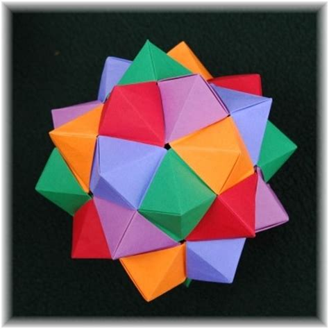Image Gallery Stellated Icosahedron - mathematical origami gallery