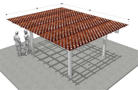 lattice patio cover plans lattice patio cover