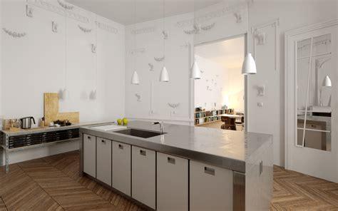 Intérieur Appartement Haussmannien by Decoration Interieure Cuisine Americaine