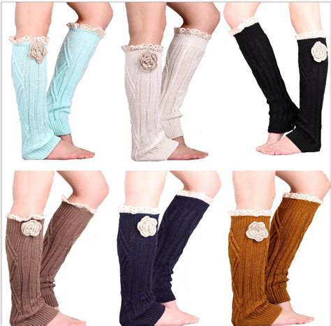 Handmade Leg Warmers - handmade flower lace leg warmers covers 11pair lot 3937