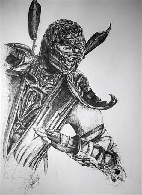 imagenes a lapiz de mortal kombat scorpion by veroniksm on deviantart