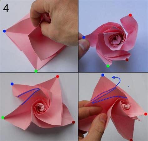 blumenstrauß aus papier basteln aus papier falten blumen basteln anleitung dekoking