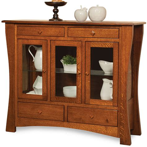 milieu park buffet and hutch dining room furniture set fairmont designs mission style sideboards buffets park grove buffets