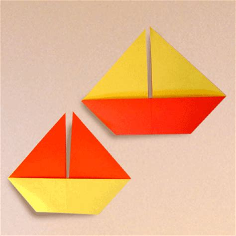 Simple Boat Origami - how to make a sail boat origami papermodeler