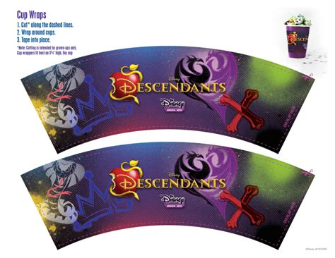 printable descendants banner disney descendants party ideas food crafts and family