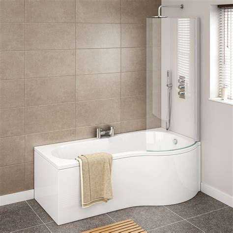 p shaped bathtub cruze p shaped 1700mm curved shower bath with screen and