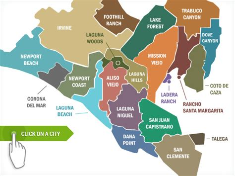 orange county usa map map of south orange county my