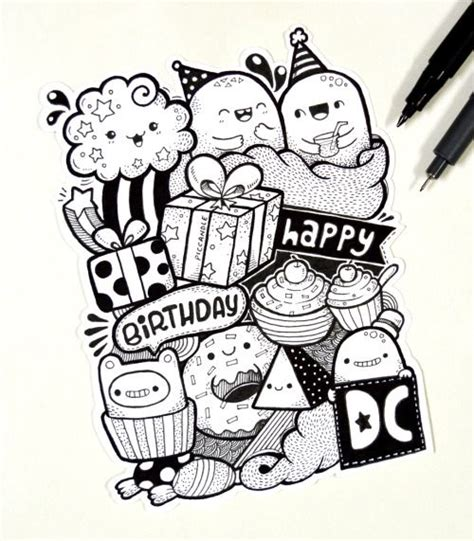doodle for birthday 126 best images about pic candle doodles on