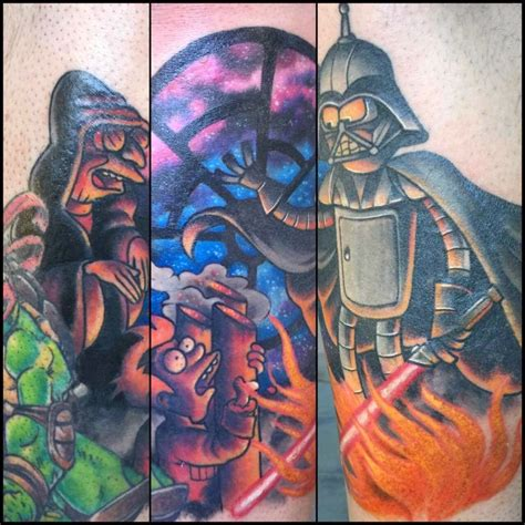 star crossed tattoos how awesome is this futurama wars crossover