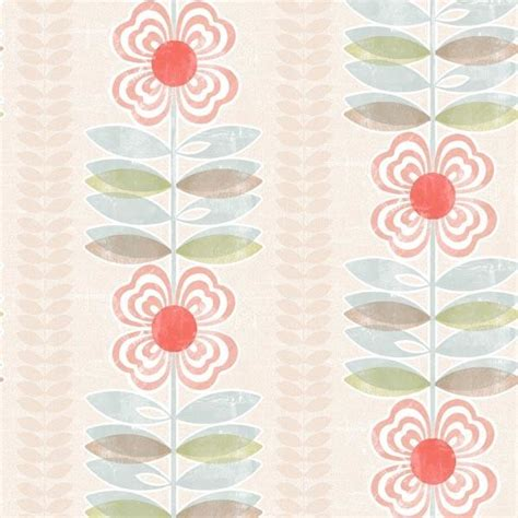 modern floral wallpaper avril red modern floral stripe modern wallpaper