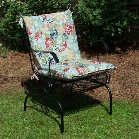 Plantation Patterns Patio Furniture Plantation Patterns Hton Bay Jean Floral Mid Back Outdoor Chair Cushion Available At The Home