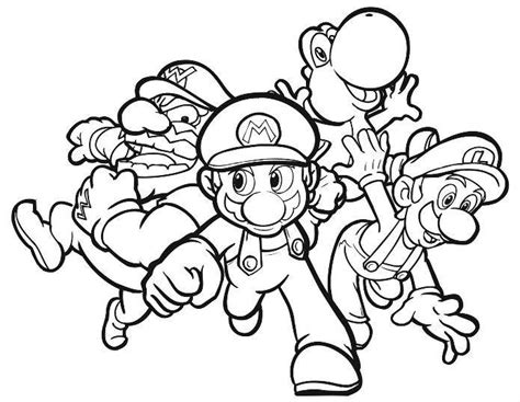 print super mario 64 ds coloring pages or download super