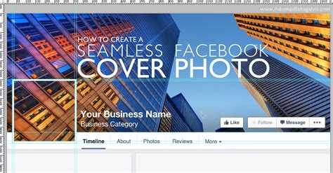 how to create a seamless cover photo and profile